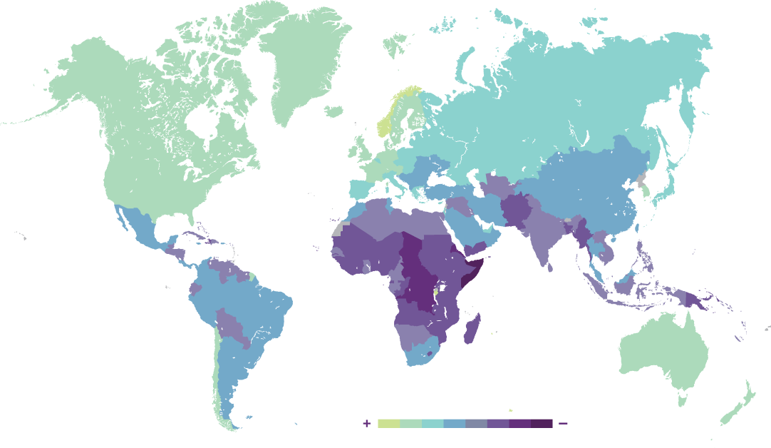 Vulnérabilité aux transformations écologiques et capacités d' adaptation par pays
